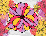 Coloring page Pansy painted byGemma