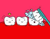 Coloring page Teeth painted byMeli