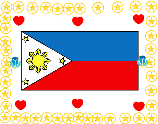 philippines flag coloring page - colored page philippines painted by gerome
