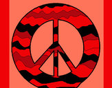 Coloring page Peace symbol painted byGemma