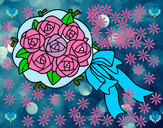Coloring page Bunch of gardenia painted byshaji