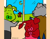 Coloring page Three little pigs 13 painted byNate