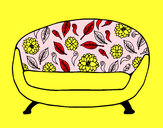 Coloring page Vintage Couch painted byNate