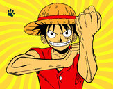 Coloring page Monkey D. Luffy painted byaceflame01