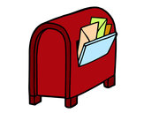 Coloring page Mailbox with letters painted byhidayah