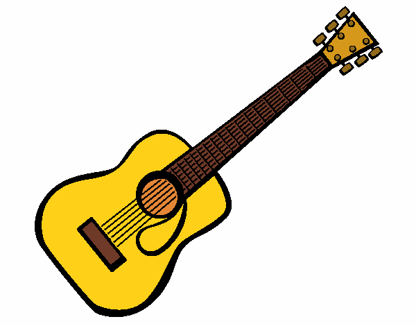 Colored page Spanish guitar II