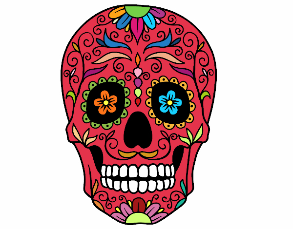 Colorful Mexican Skulls colored page mexican skull painted by user not ...
