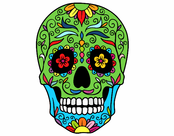 Colored page Mexican skull painted by User not registered