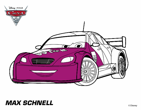 colored page cars 2 max schnell painted by user not
