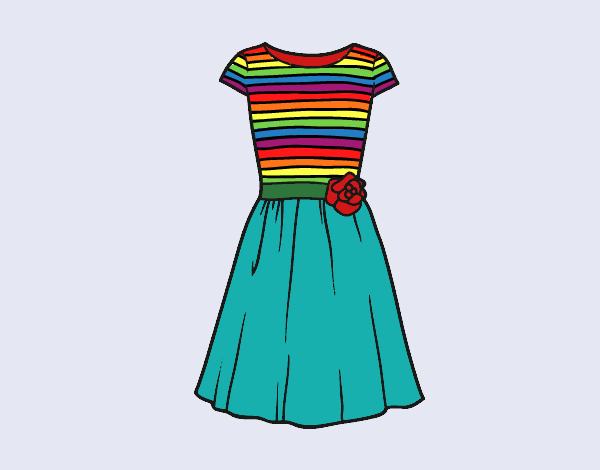 Coloring page Casual dress painted byShelbyGee