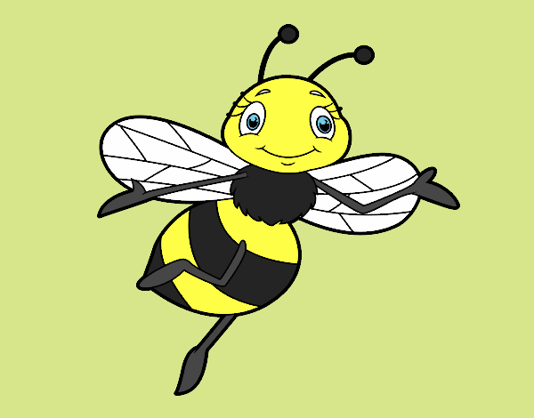 Coloring page Childish bee painted byShelbyGee