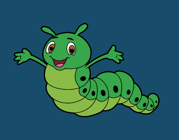 Coloring page Childish worm painted byShelbyGee