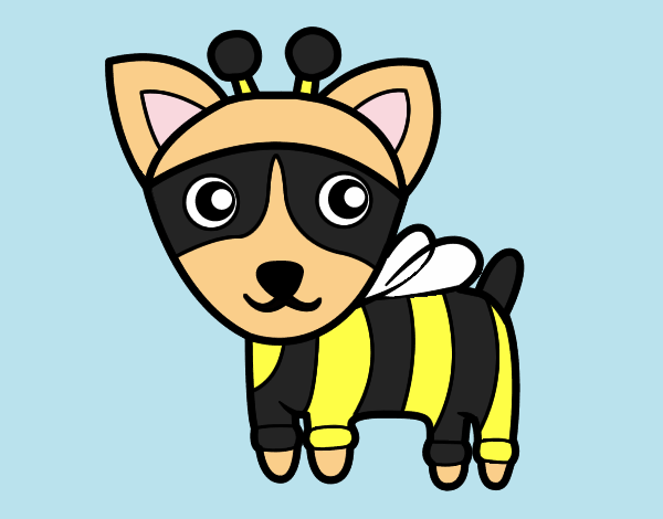 Coloring page Dog-bee painted byShelbyGee