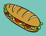 Coloring page Full sandwich painted byShelbyGee