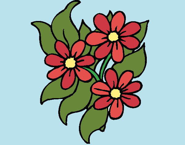 Coloring page Little flowers painted byShelbyGee