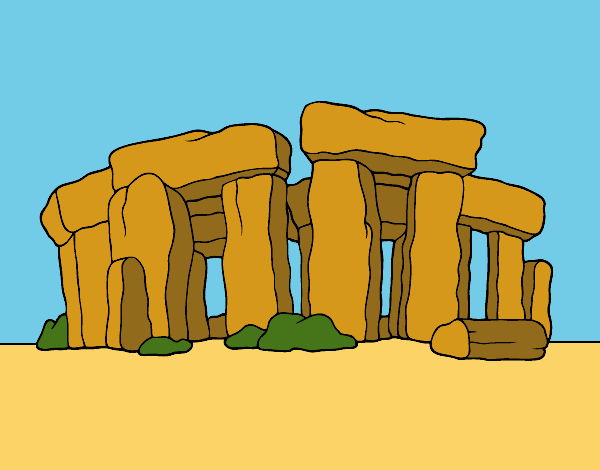 Coloring page Stonehenge painted byShelbyGee