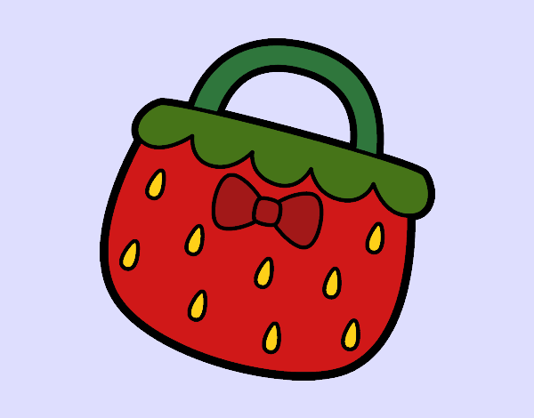 Coloring page Strawberry handbag painted byShelbyGee
