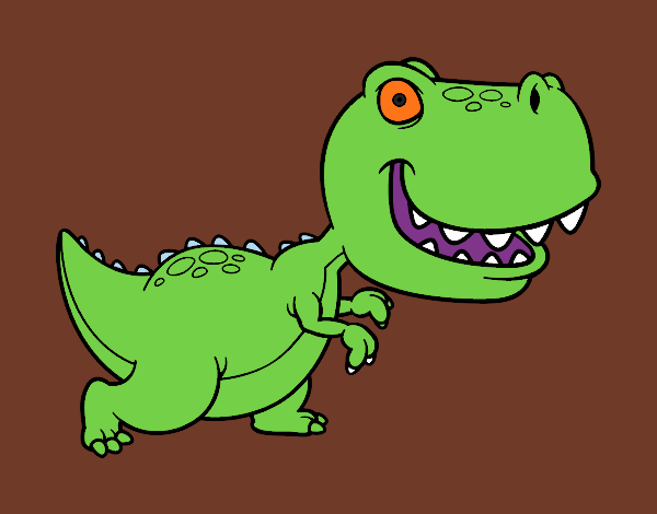 Coloring page Tyrannosaurus painted byShelbyGee