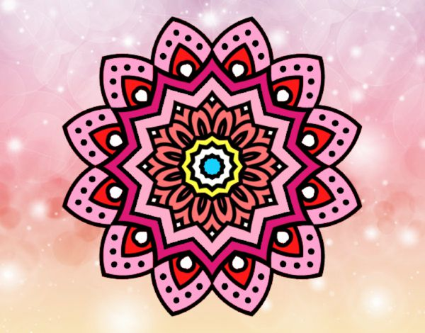 Colored Page Natural Flower Mandala Painted By User Not Registered