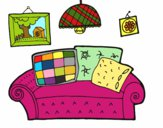 Coloring page Living room painted byredhairkid