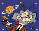 Coloring page Albert Einstein painted bybarbie_kil