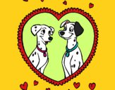 Coloring page Dalmatians in love painted bybarbie_kil