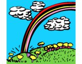 Coloring page Rainbow painted byJubblyRuss