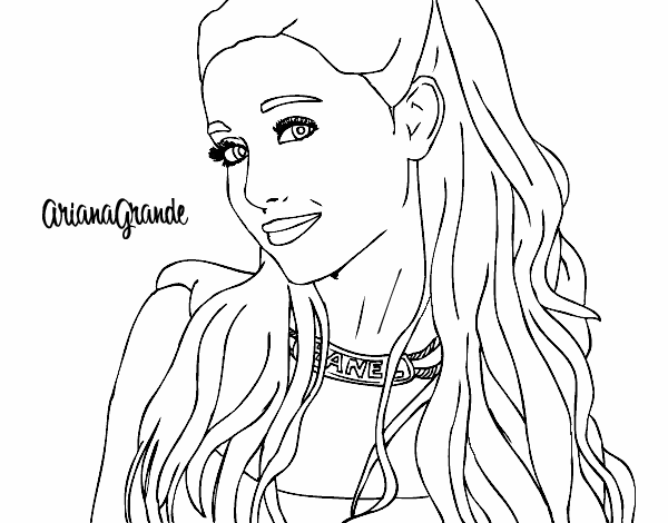 Colored Page Ariana Grande With Necklace Painted By User Not Registered