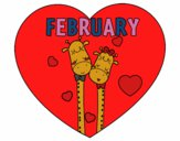Coloring page February painted byredhairkid