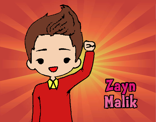 Colored page my life painted by user not registered for Zayn malik coloring pages