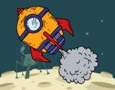 Coloring page A rocket painted bybarbie_kil