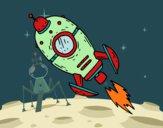 Coloring page A Space Rocket painted bybarbie_kil