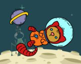 Coloring page Astronaut kitten painted bybarbie_kil