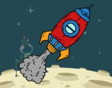 Coloring page Propulsion rocket painted bybarbie_kil