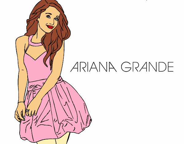 ariana grande coloring pages Colored page Ariana Grande painted by User not registered ariana grande coloring pages