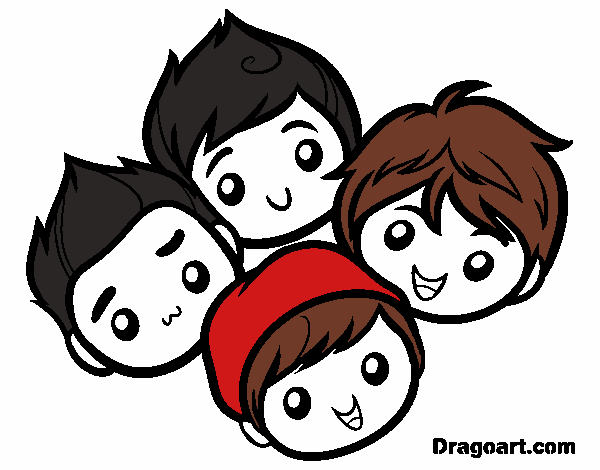 Colored page big time rush painted by user not registered for Big time rush coloring pages