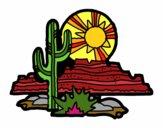 Coloring page Colorado Desert painted bysheba