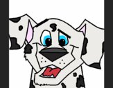 Coloring page Dalmatian Dog painted bySavannah_M