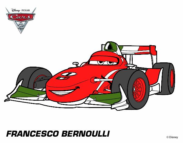 Colored page Cars 2 Francesco