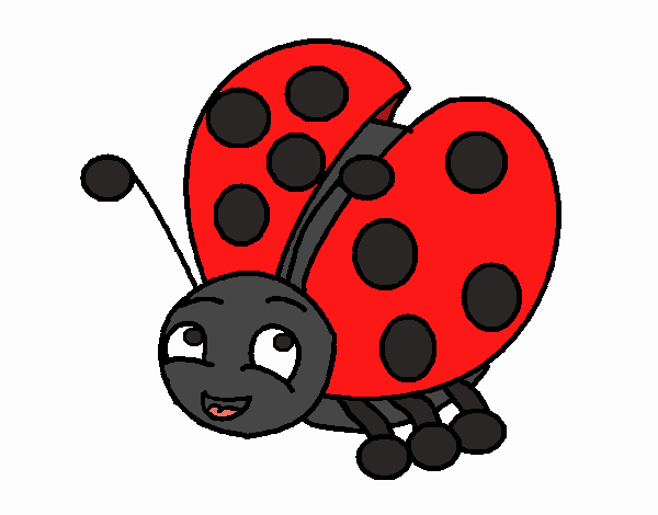 Colored page cute ladybug painted by user not registered for Cute ladybug coloring pages