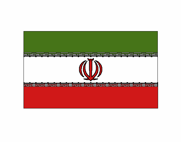 Colored page iran painted by user not registered for Iran flag coloring page