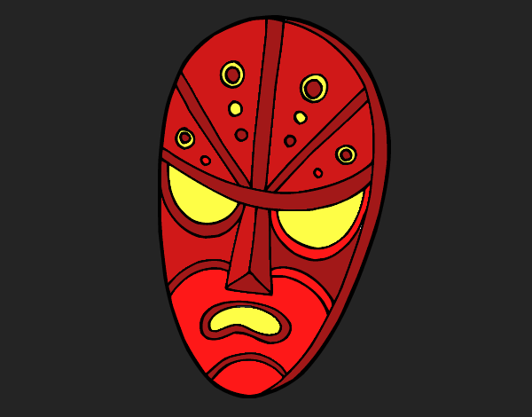 Colored page Angry mask painted by User not registered 7f5574087f4e