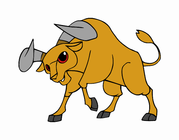 Colored Page The Spanish Fighting Bull Painted By User Not