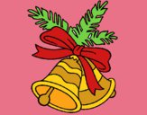 Coloring page Christmas bells painted byTheColor