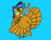Turkey with shotgun
