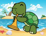 Turtle with trumpet