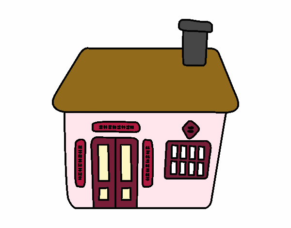 Colored Page Chinese Cottage Painted By User Not Registered
