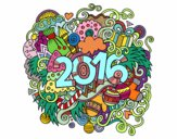 Coloring page Collage 2016 painted bynelli00949