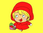 Coloring page Little Red Ridinghood painted bymindella