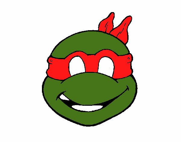 Colored page ninja turtles mask painted by yenaira for Ninja turtle mask coloring page